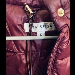 Via Spiga Jackets & Coats - Via Spiga Stand Collar Packable Puffer Coat